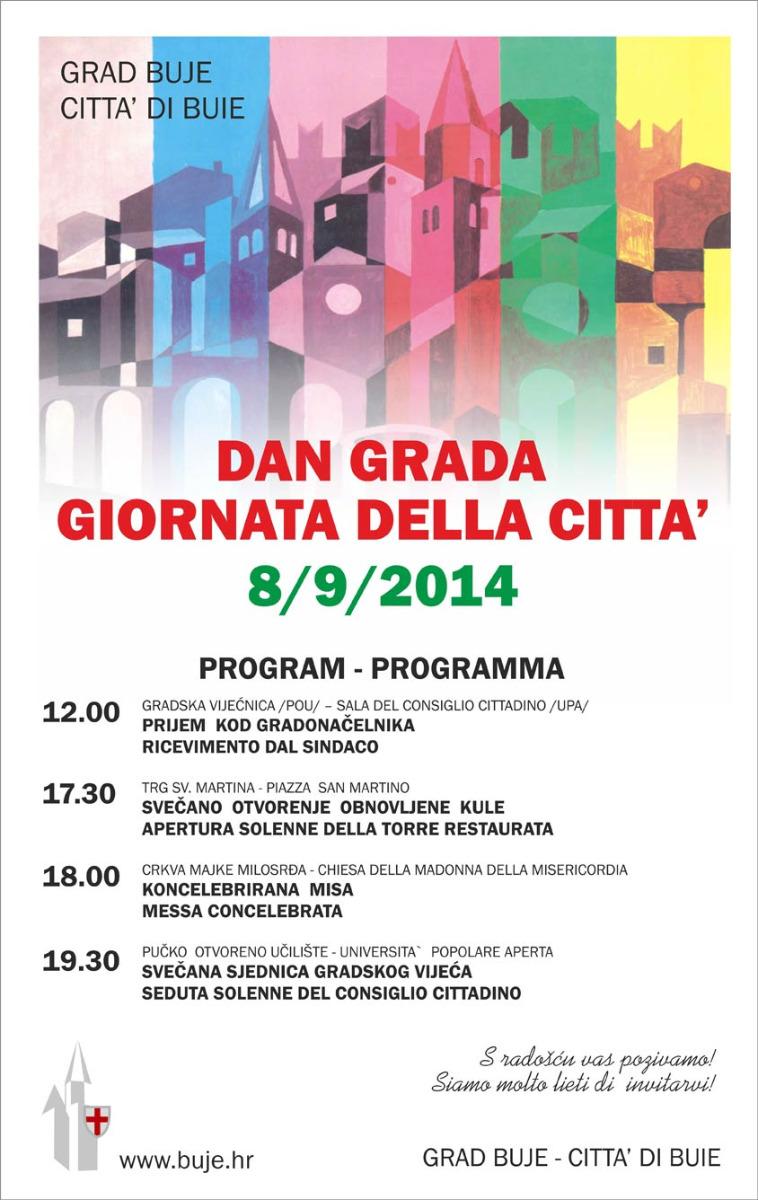 Dan grada buja 2014 program