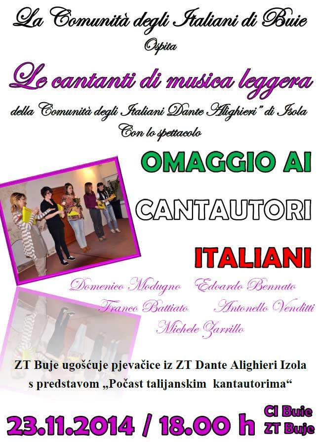 Omaggio cantautori italiani 191114