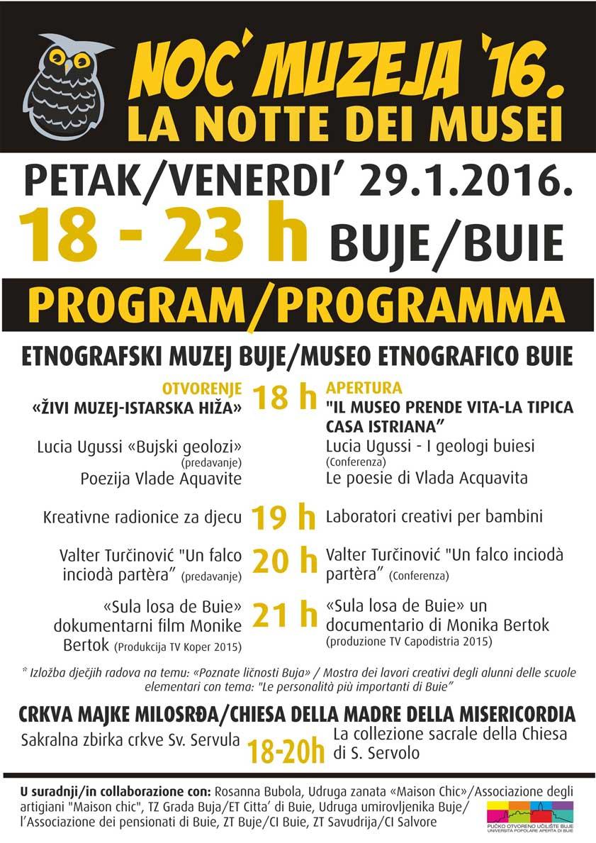 Noc muzeja 2016 program 27116