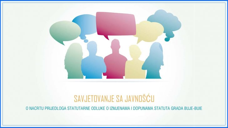 Savjetovanje sa javnoscu statut Grad Buje