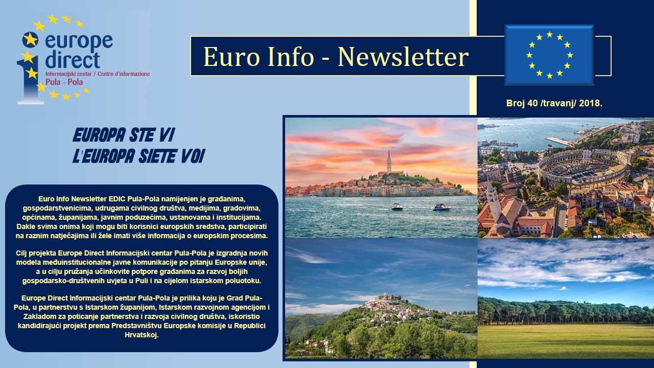 Euro info newsletter hr 40 2018