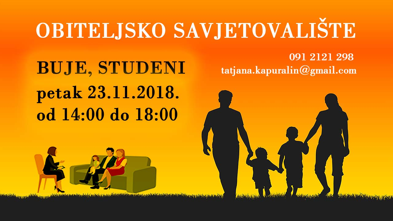 Obiteljsko savjetovaliste buje STUDENI 2 2018
