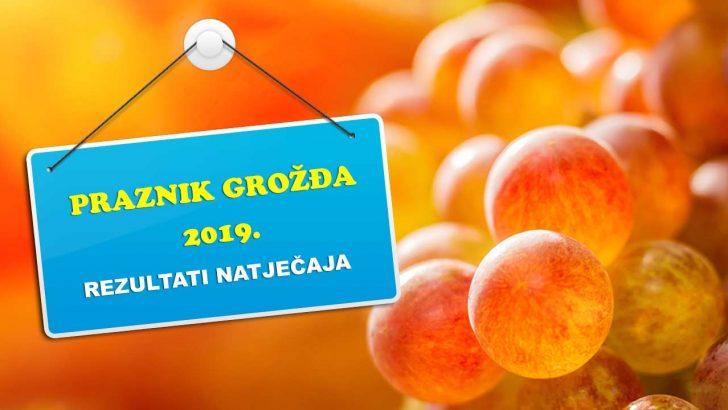Rezultati natjecaja dani grozdja