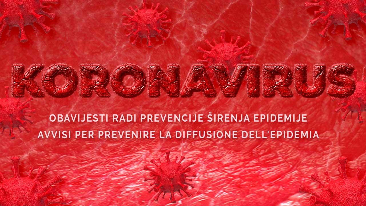 Koronavirus prevencija obavijesti