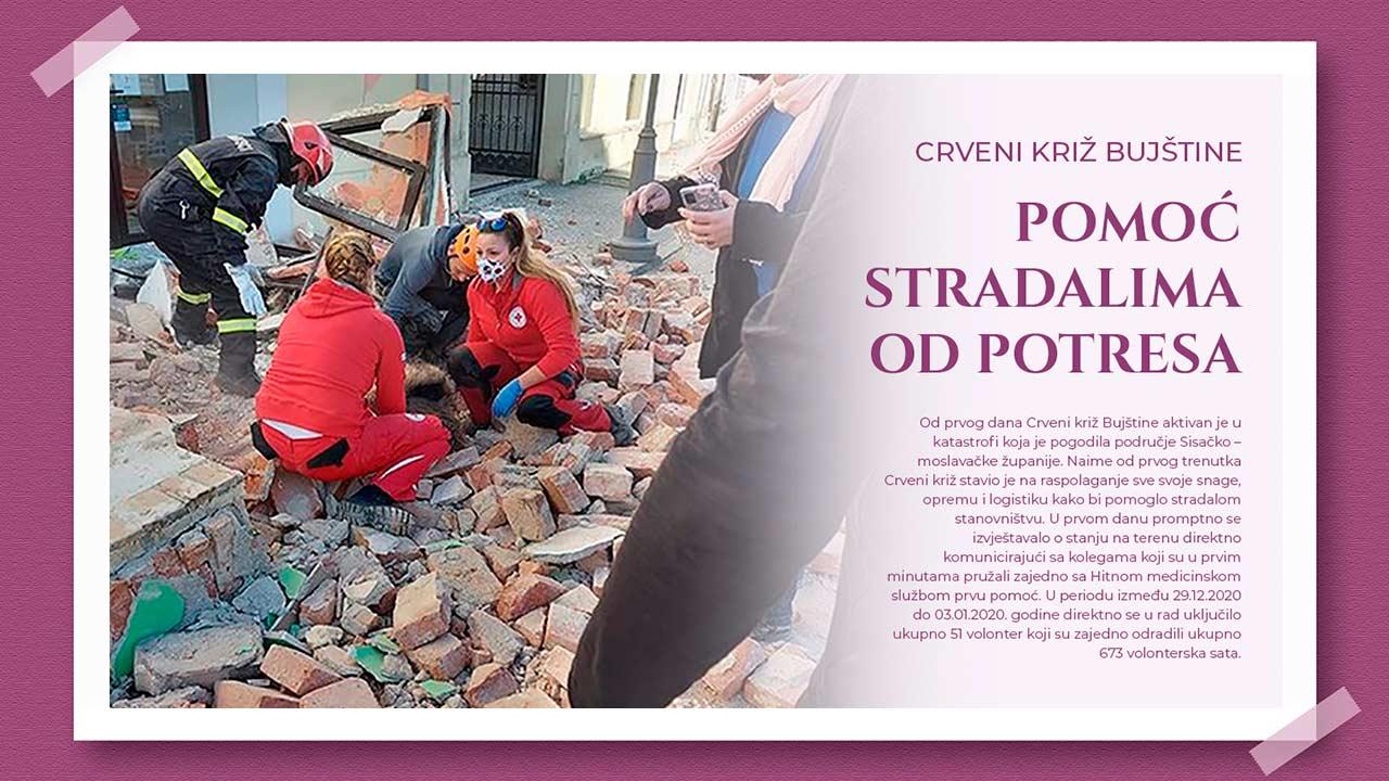 Aktivnosti Crvenog križa Bujštine u krizi potres – Petrinja, Glina, Sisak