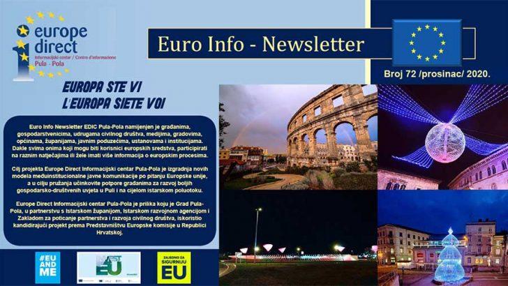 73. Euro Info Newsletter EDIC Pula-Pola - siječanj 2021.