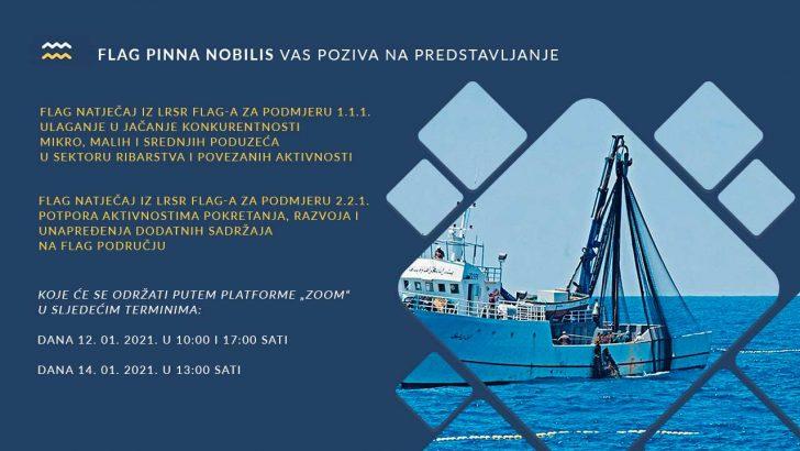 """FLAG Pinna nobilis objavio dva FLAG natječaja - """"Ulaganje u jačanje konkurentnosti mikro, malih i srednjih poduzeća u sektoru ribarstva i povezanih aktivnosti"""" i """"Potpora aktivnostima pokretanja, razvoja i unapređenja dodatnih sadržaja na FLAG području"""""""