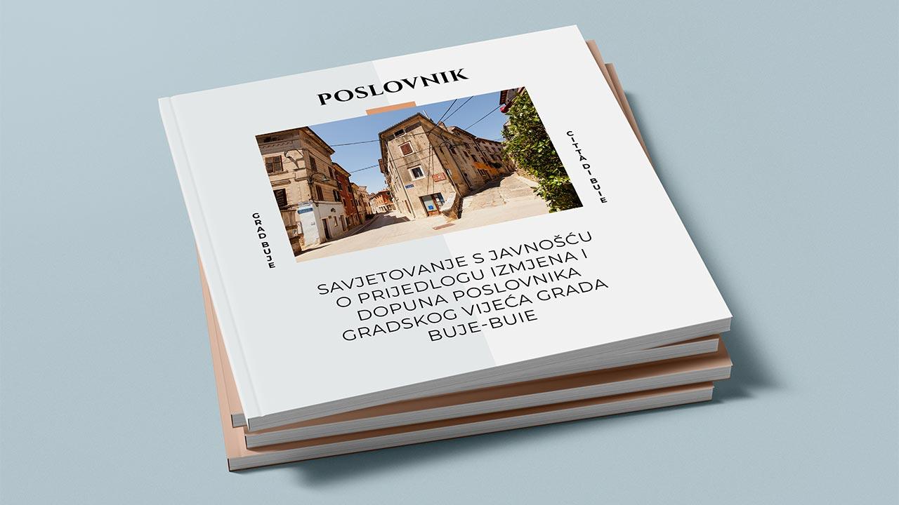 Savjetovanje s javnošću o prijedlogu izmjena i dopuna Poslovnika gradskog vijeća Grada Buje-Buie