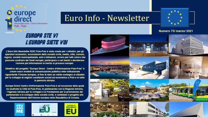 75. Euro Info Newsletter EDIC Pula-Pola, ožujak 2021.