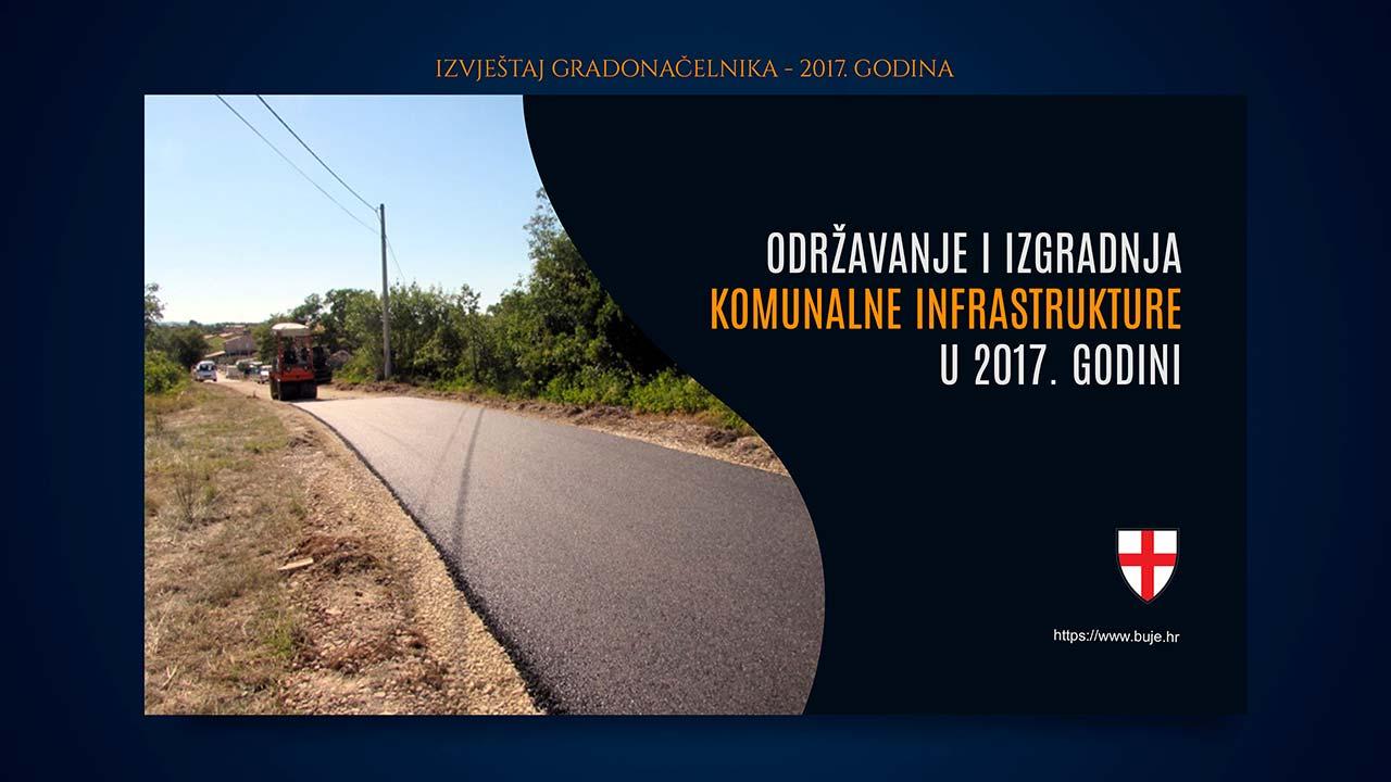 Održavanje i izgradnja komunalne infrastrukture u 2017. godini