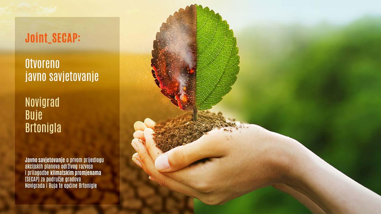 Javno savjetovanje o prvom prijedlogu akcijskih planova održivog razvoja i prilagodbe klimatskim promjenama - Novigrad, Buje i Brtonigle