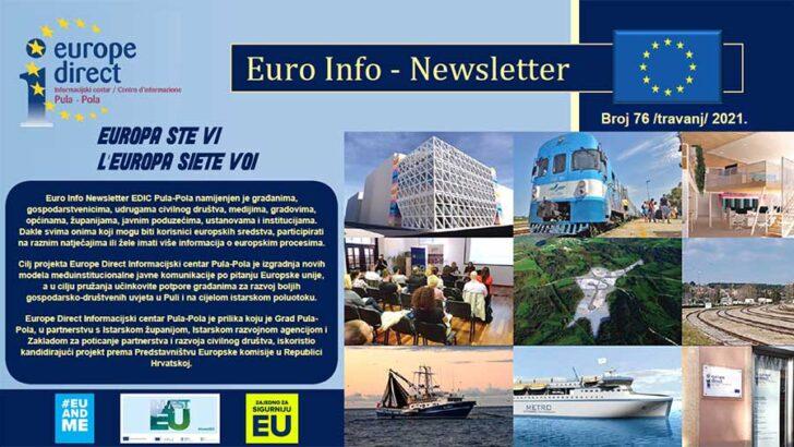 76. EURO INFO NEWSLETTERS EDIC PULA-POLA – 2021. GODINA