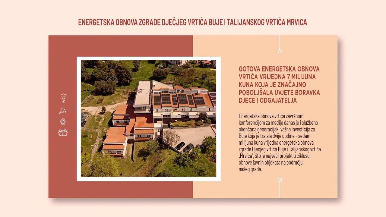 Energetska obnova zgrade Dječjeg vrtića Buje i talijanskog vrtića Mrvica
