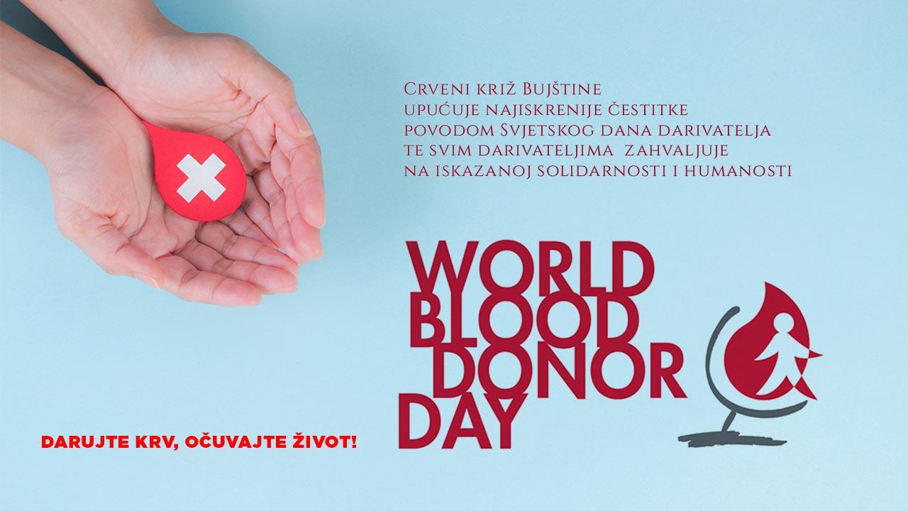 Svjetski dan darivatelja krvi: Darujte krv, očuvajte život!