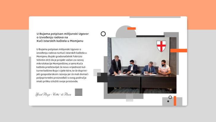 U Bujama potpisan milijunski Ugovor o izvođenju radova na Kući istarskih kaštela u Momjanu