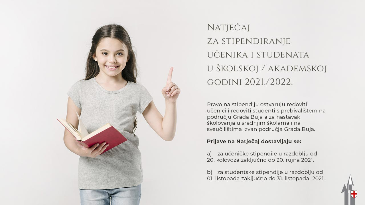 Natječaj za stipendiranje učenika i studenata u školskoj / akademskoj godini 2021./2022.