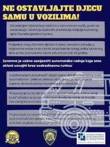 Izbjegnimo stradavanje djece u vozilima zbog dehidracije