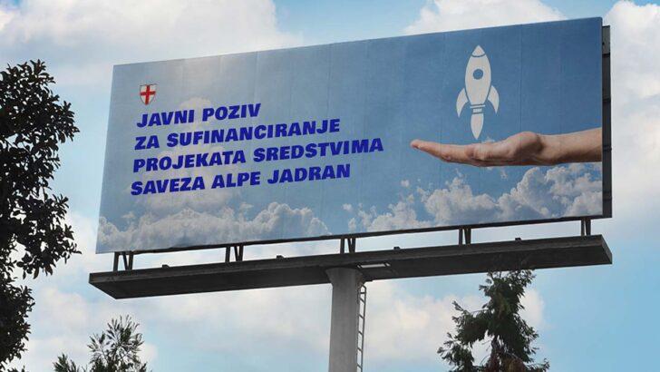Javni poziv za sufinanciranje projekata sredstvima Saveza Alpe Jadran