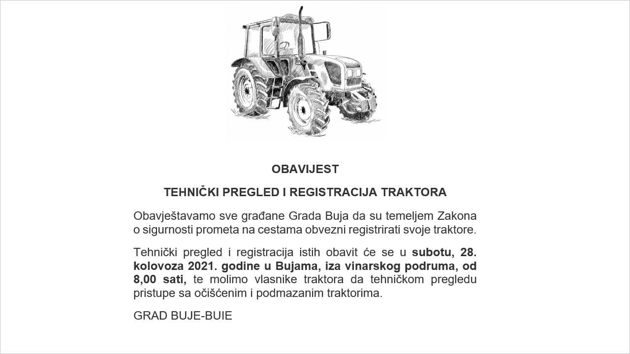 Tehnički pregled i registracija traktora