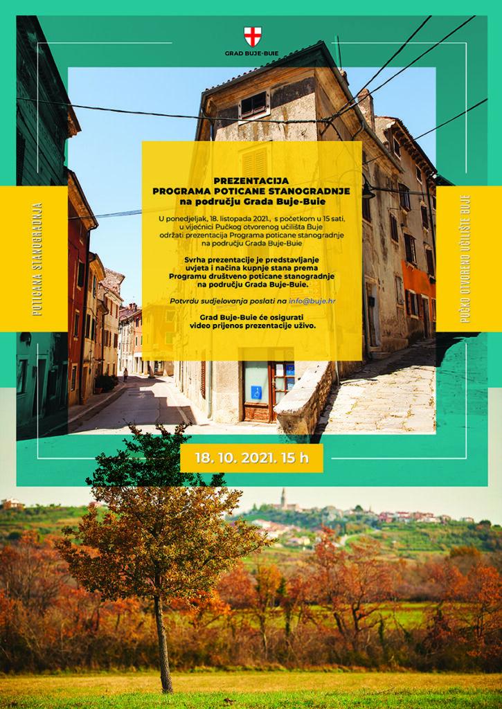 Prezentacija Programa poticane stanogradnje na području Grada Buje-Buie